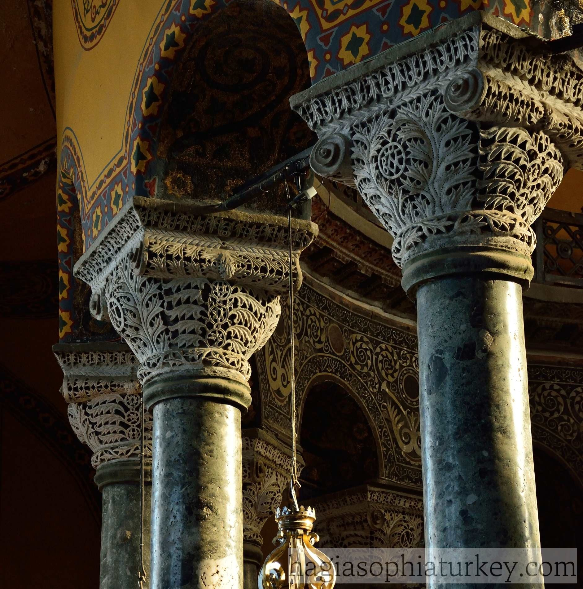 324 CE-726 Early Byzantine Art   Ancient to Medieval Art   Hagia Sophia Interior Columns