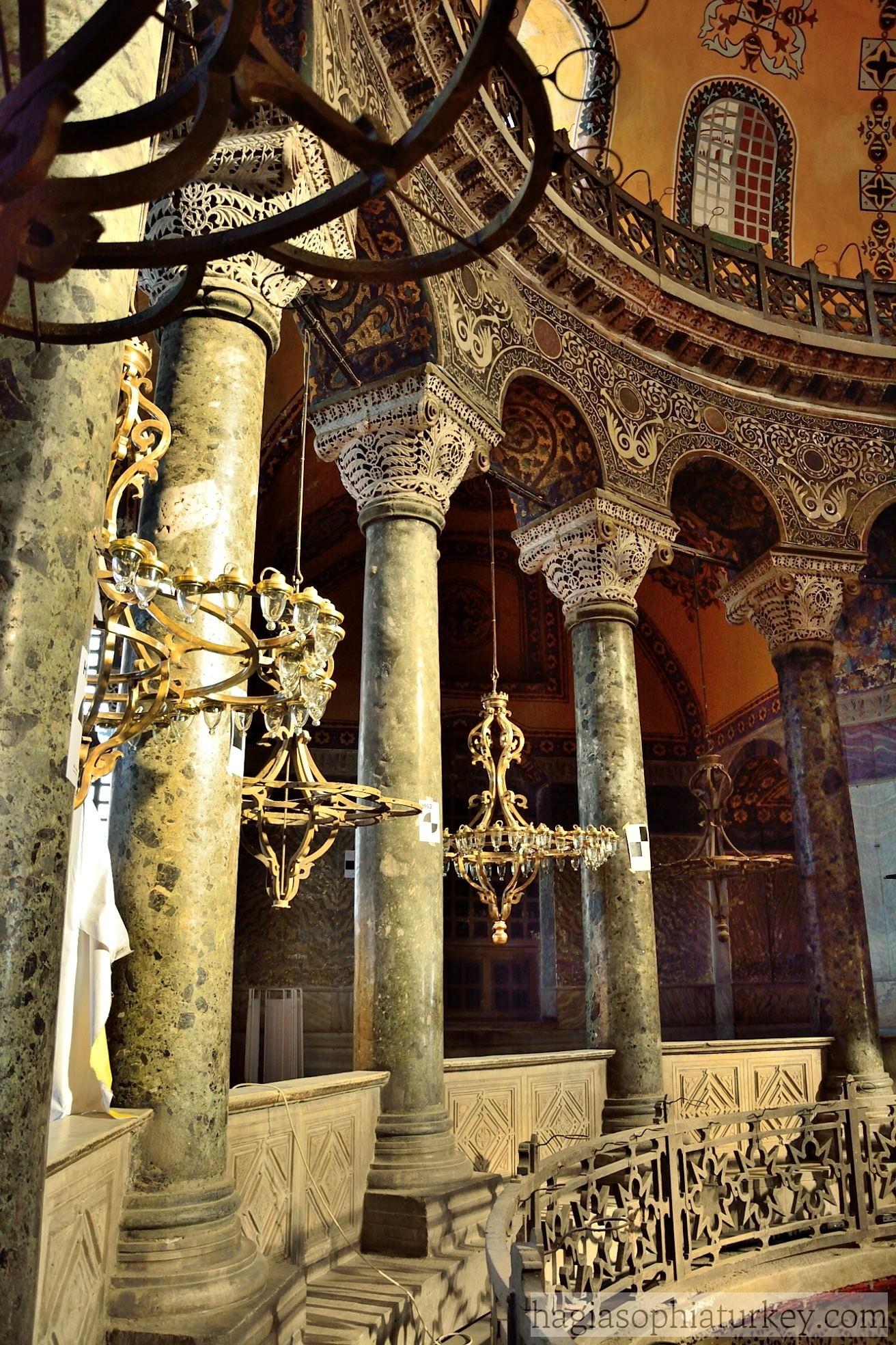 Hagia Sophia, Beautiful & Romantic Face of Istanbul ...   Hagia Sophia Interior Columns