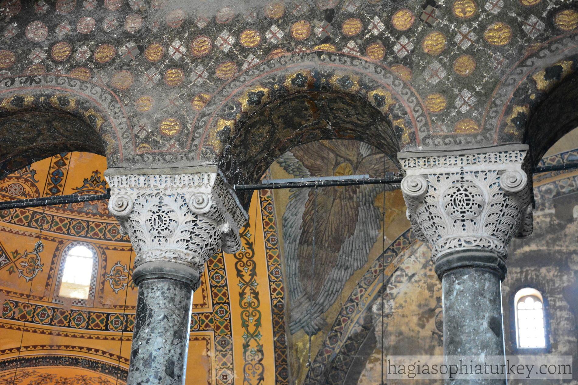 Midterm - Art History 180 with Walden at Carleton College ...   Hagia Sophia Interior Columns