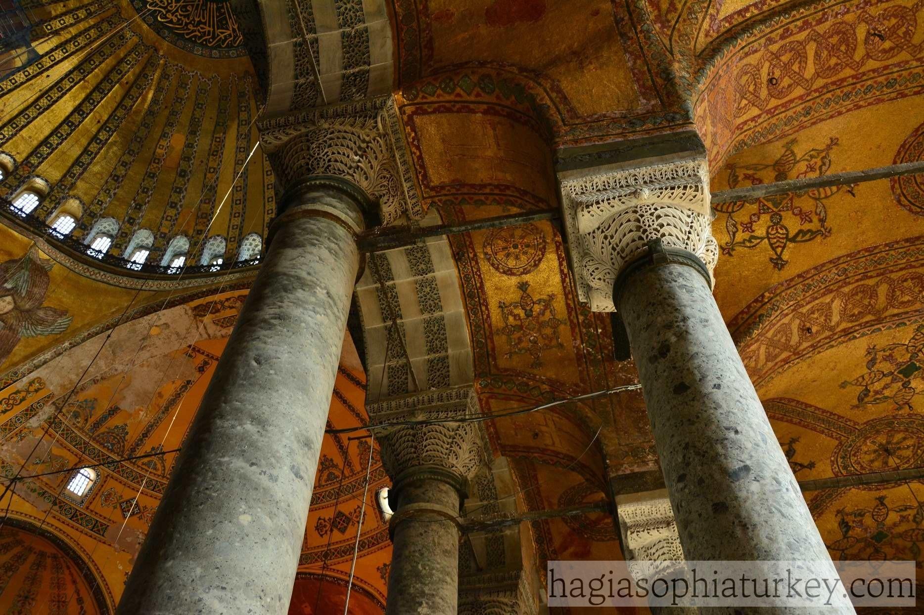 columns  u00bb hagia sophia