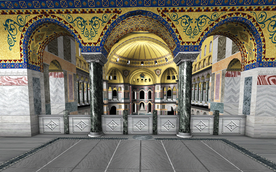 Located In The South Upper Gallery, There Is An Empress Lodge With Green  Marbles. There Was Also A Covered Place, With Arches Which Was Called  Gynekoin And ...