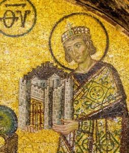Constantine Mosaic in Hagia Sophia