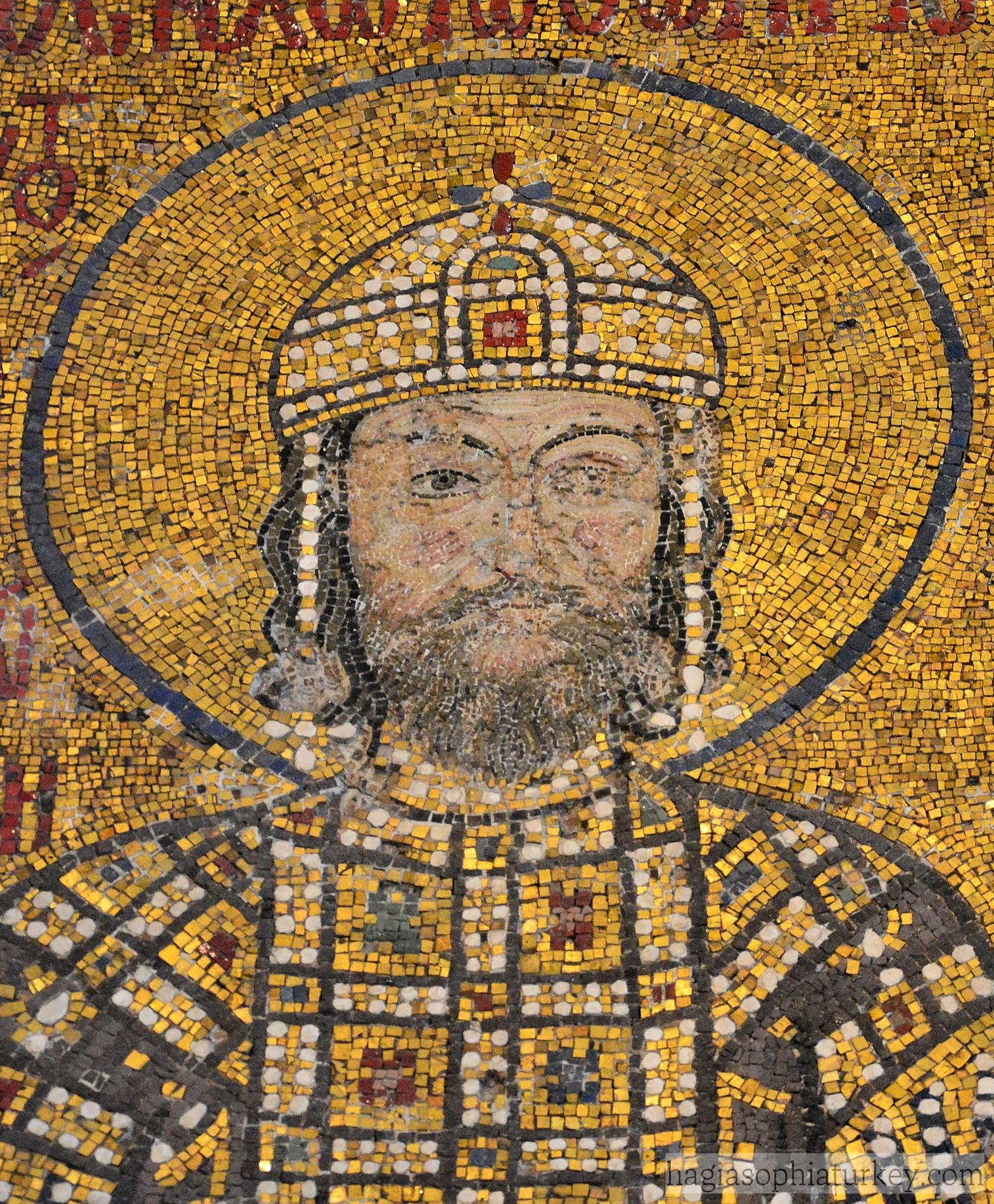 Emperor Komnenos II Mosaic in Hagia Sophia