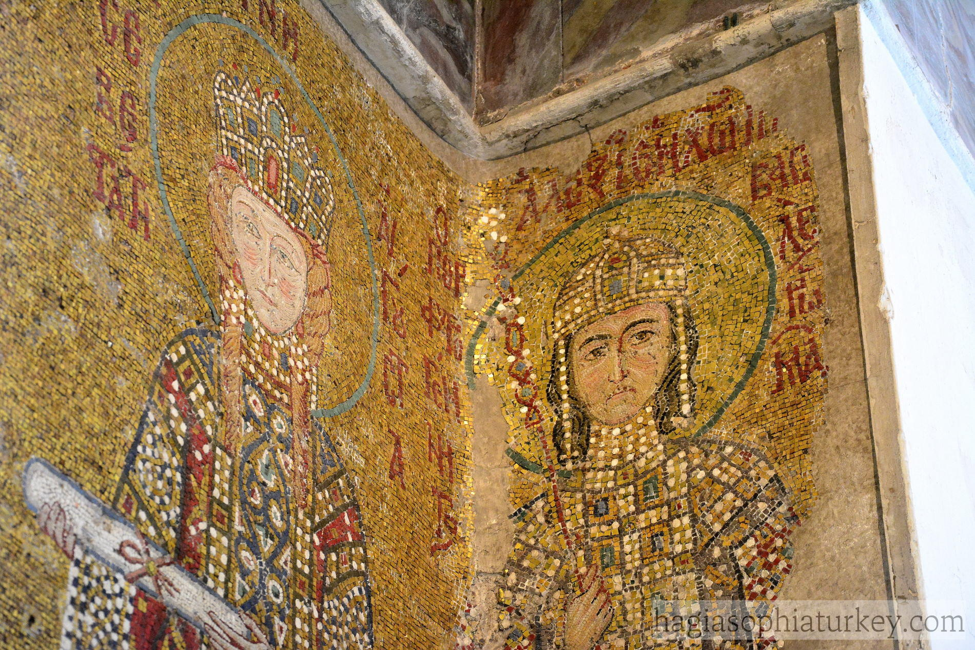 Empress Eirene and Alexios Mosaic in Hagia Sophia
