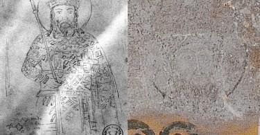 JOHN 5 PALAEOLOGUS MOSAIC IN HAGIA SOPHIA