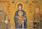 Mary, Christ the Child, Kommenos 2, Empress Eirene Mosaic