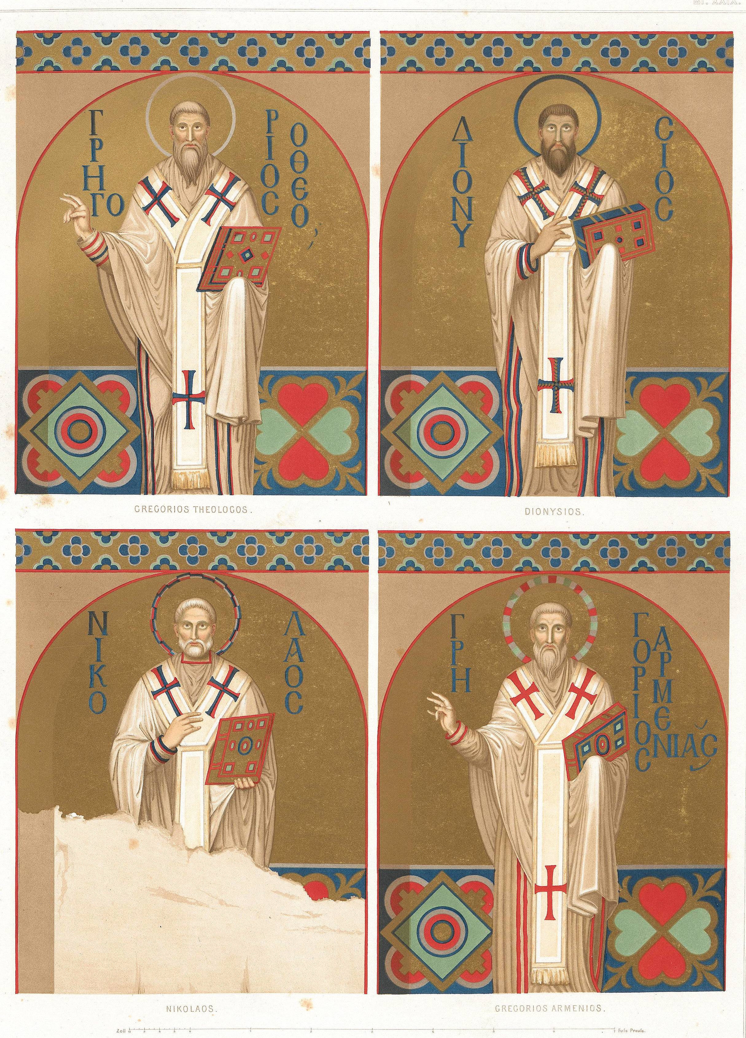 Mosaic of Fathers of the Church, Salzenberg Sketchs, 1854