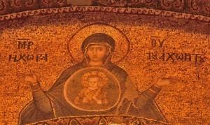 METER THEOU MOSAIC IN CHORA CHURCH