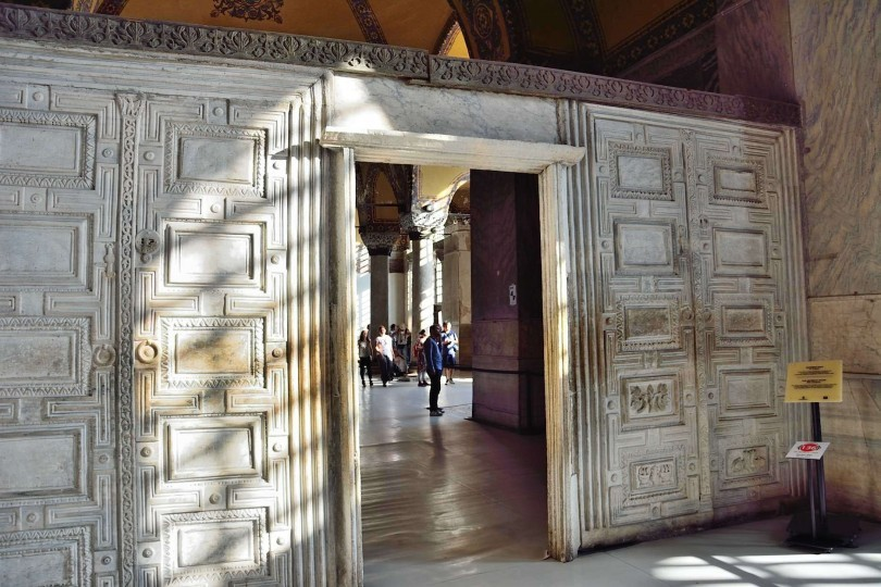 Gentil Located Near The Empress Lodge In Hagia Sophia, The Door Of Heaven And Hell  (Marble Door) Is A Door Made Of Marble. The Door Used To Separate The West  And ...