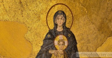 The Virgin And The Child (Apse) Mosaic Of Hagia Sophia