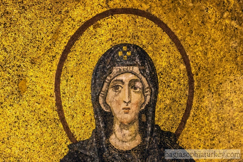 Virgin Mary Detail from Apse Mosaic