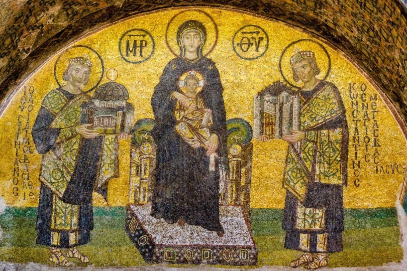 vestibule mosaic in hagia sophia