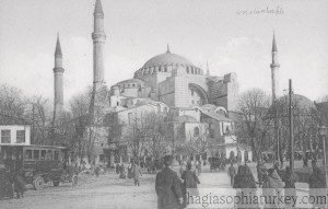Constantinople Ste Sophie, rare animated view 1910s