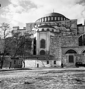Exterior, Hagia Sophia in 1935