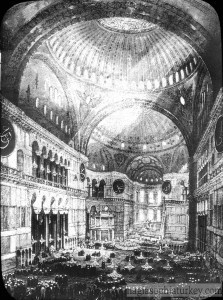 Interior of Hagia Sophia in 1903