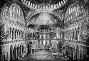 Interior of the Hagia Sophia, 1909