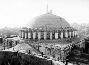 Hagia Sophia main dome and its surroundings, 1902