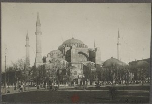 Sultanahmet - A Photograph Drawn In 1918 by French Soldiers During Occupation-Gallica