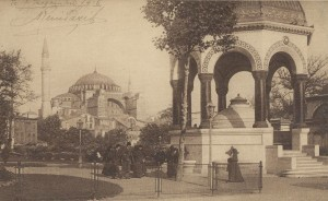 The German Fountain and Hagia Sophia in 1901