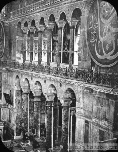he inside of Hagia Sophia, in 1903 (Source, Brooklyn Museum)