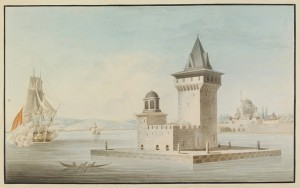 Maiden's Tower, Istanbul, 18th Century (Kiz Kulesi)